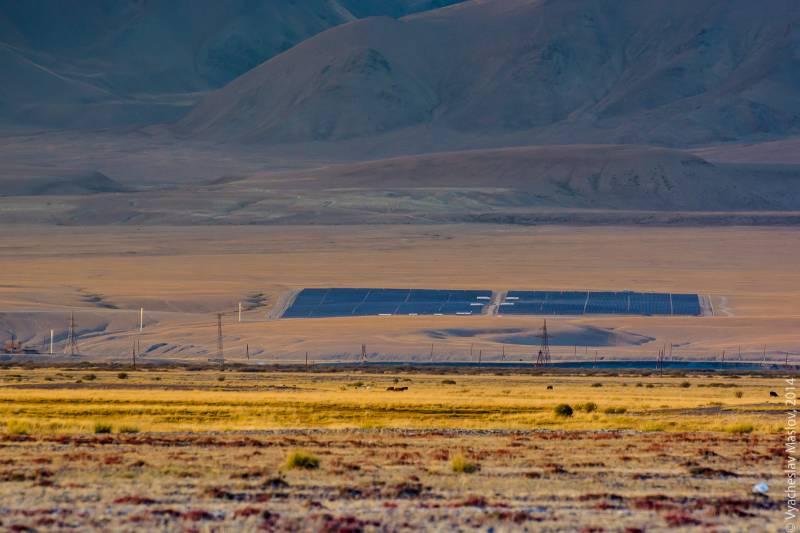 Солнечная электростанция в Кош-Агаче - Алтай Фото